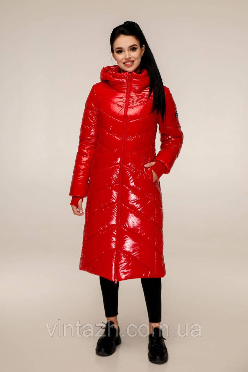 Зимняя удлинённая куртка для девченок размеры 44-54