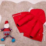 Парка детская зимняя однотонная красная SKL11-260879, фото 2
