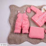 Детский зимний комбинезон тройка розовый SKL11-260899, фото 2
