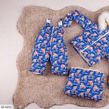 Детский зимний комбинезон тройка голубой SKL11-260907, фото 2