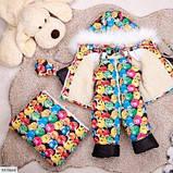 Детский зимний комбинезон тройка разноцветный SKL11-260910, фото 2