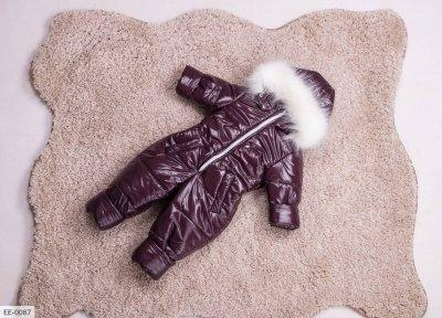 Детский зимний комбинезон бордо SKL11-260930