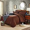 Постельное белье семейное Комильфо ранфорс коричневый 2х145х215 PSE1117