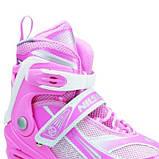 Роликовые коньки Nils Extreme розовые Size 39-42 NA1123A SKL41-227278, фото 2