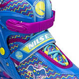 Роликовые коньки Nils Extreme синие Size 30-33 NJ4613A SKL41-227308, фото 9