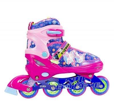 Роликовые коньки Nils Extreme розовые Size 38-41 NJ4605A SKL41-227316