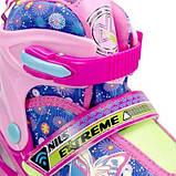 Роликовые коньки Nils Extreme розовые Size 38-41 NJ4605A SKL41-227316, фото 2