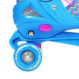 Роликовые коньки Nils Extreme синие Size 34-37 NQ4411A SKL41-227324, фото 10