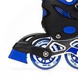 Роликовые коньки Nils Extreme синие Size 31-34 NJ1828A SKL41-227546, фото 6