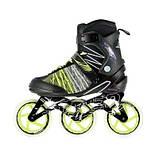 Роликовые коньки Nils Extreme черно-зеленые Size 39 NA1206 SKL41-227577, фото 3