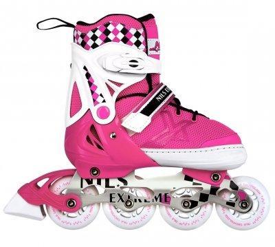 Роликовые коньки Nils Extreme розовые Size 39-42 NA13911A SKL41-227638