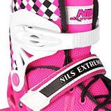 Роликовые коньки Nils Extreme розовые Size 39-42 NA13911A SKL41-227638, фото 2