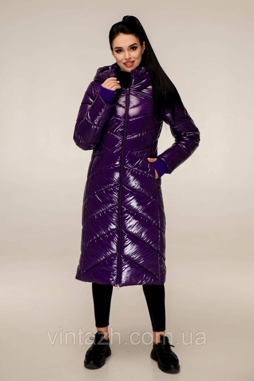 Женская зимняя удлинённая куртка размеры 44-54