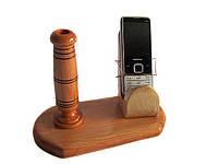 Подставка из дерева для мобильного телефона, фото 1