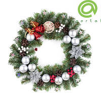 Рождественский венок 50см Новогоднее Чудо 9235