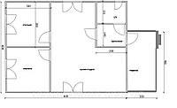 Будинок 6м х 8м з терасою 4м х2м