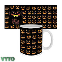 Чашка з принтом 63603 Happy Halloween посмішки Джека