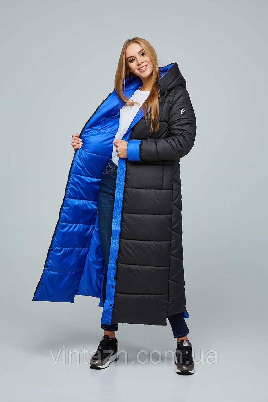 Тепле зимове жіноче пальто розміри 44-58