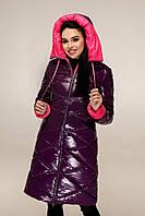 Удлинённая зимняя куртка для девченок размеры 44-54, фото 1