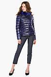Фиолетовая женская куртка на молнии осенне-весенняя модель 40267, фото 2
