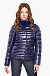 Фиолетовая женская куртка на молнии осенне-весенняя модель 40267, фото 3