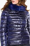 Фиолетовая женская куртка на молнии осенне-весенняя модель 40267, фото 6