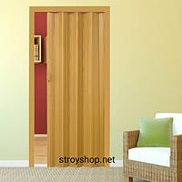 Двері гармошка Дуб Рустик Folding міжкімнатні, глухі, складні, розсувні, пластикові, приховані