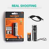 Карманный фонарь Nicron B10+Аккумулятор 16340 (200LM, Cree XP -E2 R3, USB) мини фонарик с роторным управлением, фото 10