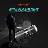 Карманный фонарь Nicron B10+Аккумулятор 16340 (200LM, Cree XP -E2 R3, USB) мини фонарик с роторным управлением, фото 5