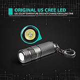 Карманный фонарь Nicron B10+Аккумулятор 16340 (200LM, Cree XP -E2 R3, USB) мини фонарик с роторным управлением, фото 6