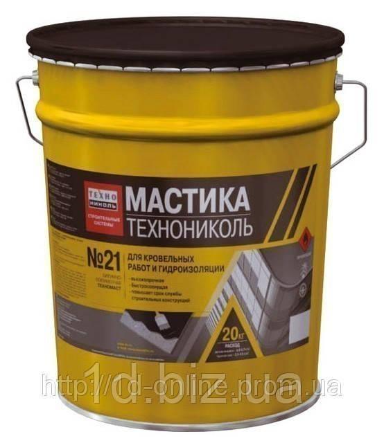 "Мастика битумно-полимерная ТехноНИКОЛЬ №21 ""ТЕХНОМАСТ"", 20 кг"