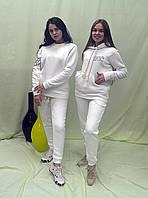90 % хлопка, Женский спортивный теплый костюм с начесом, оригинальная вышивка, выделись из толпы