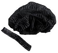 Одноразова шапочка, чорна, 100 шт/уп.