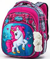 Школьный рюкзак в 1-3 класс ранец для девочки Пони Единорог Winner One 7005 16 л. 29*36см