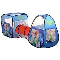 Палатка детская с туннелем ББ M-3312 43,5х73х31,5 см