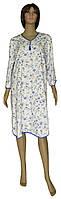 NEW! Теплые женские ночные рубашки - серия 18086 Pretty Soft Розы Белая с голубым ТМ УКРТРИКОТАЖ!