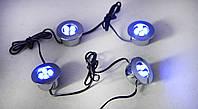 Подсветка салона автомобиля, багажника, бампера, днища / комплект 4 пуговицы
