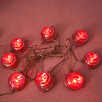Точечная подсветка 8 точек в салон, в багажник, на днище, под бампер. Красная
