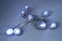 Точечная подсветка 8 точек в салон, в багажник, на днище, под бампер. Белые неоновые