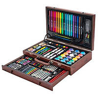 Набор Юного Художника для Рисования и Творчества в Деревянном Чемоданчике Tool Kit 123