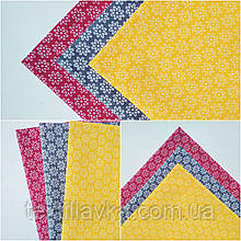 Набор хлопковой ткани для рукоделия мелкие цветочки
