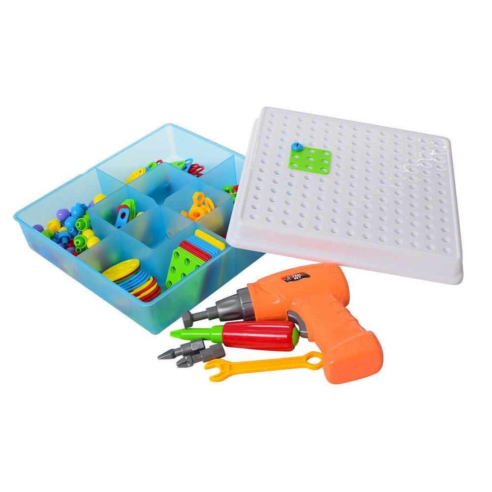 Мозаїка конструктор з шуруповертом Puzzle Creative 193 деталі TLH-28