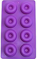 """Форма силиконовая Hauser """"8 пончиков"""" Ø6см для выпечки и заморозки H-186 Силиконовые формы"""