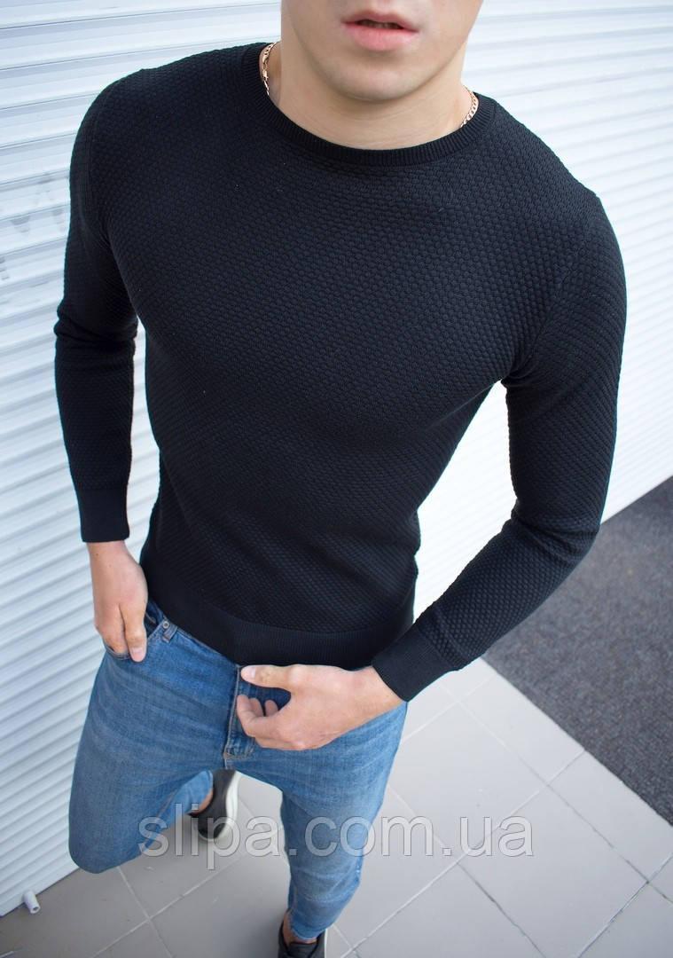Мужская классическая кофта чёрная ( Турция )