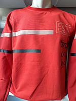 Батник мужской трикотаж с накаткой EST,2-х нитка 002,купить оптом