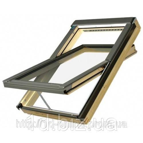 Мансардное окно Факро (FAKRO) FTP-V U3 Elektro, 09  94x140 cм