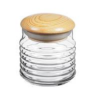 Стеклянные банки для сыпучих продуктов банка емкость для круп сахара Babylon 660мл 1шт 43163