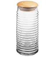 Стеклянные банки для сыпучих продуктов банка емкость для круп сахара Babylon 1550мл 1шт 43183