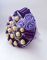 Букет из конфет Ferrero Rocher Нежность фиолетовый