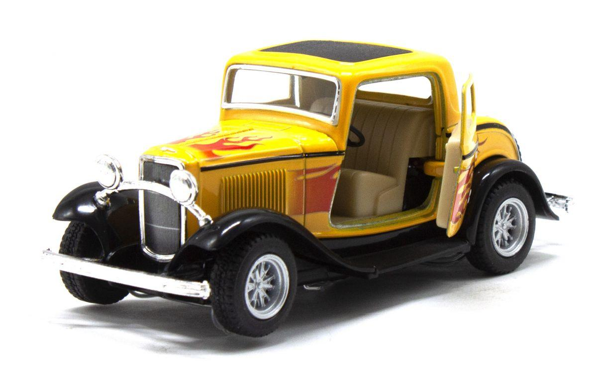 Машинка KT5332FW(Yellow) FORD COUPE металл, 13см